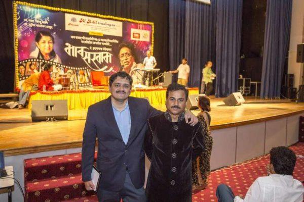Dr Mandar Bichu (l) and Dr Sunil Manjrekar - organisers of the event