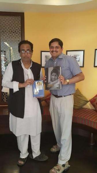 Pt Hriydanath Mangeshkar launching lata web museum with Dr Mandar Bichu