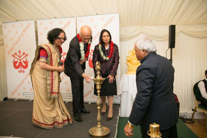 Former Indian High Commissioner Ranjan Mathai and Minister for Employment Priti Patel MP at an event in Parliament (File)