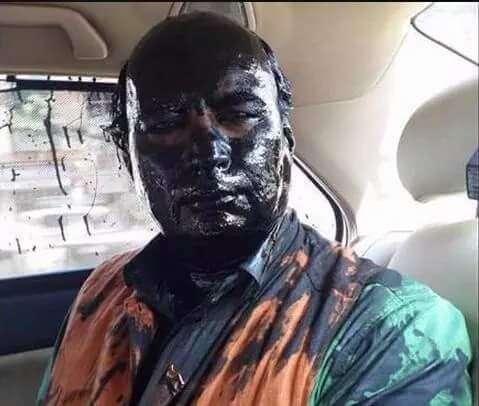 Sudheendra Kulkarni after the attack by Shiv Sainiks in Mumbai (File)