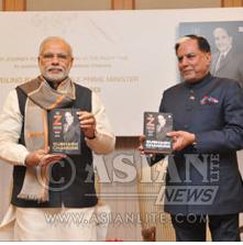 Indian Prime Minister Narendra Modi with Dr Subash Chandra