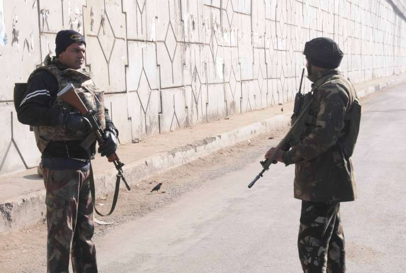Security beefed up in Pathankot following a terrorists attack on an Indian Air Force (IAF) base