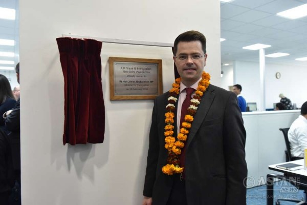 UK's Immigration Minister, James Brokenshire inaugurated UK Visas and Immigration section at the British High Commission in New Delhi,