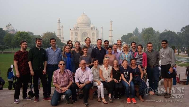 The Facebook`s staff team visit the Taj Mahal in Agra (File)