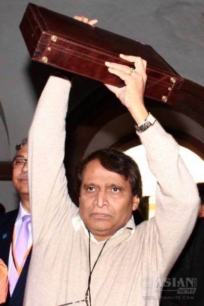 Union Minister for Railways Suresh Prabhakar Prabhu arrives at the Parliament to present Railway Budget