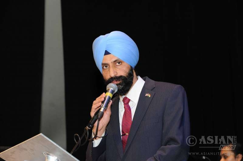 Mr Charan Sekhon at the Bedford event to celebrate Indian Republic Day