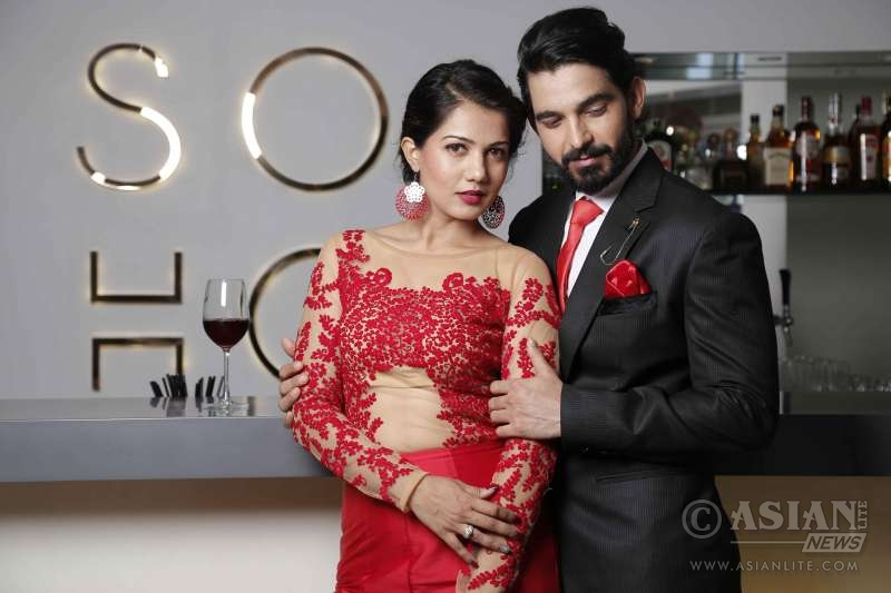 Designer Asif Merchant unveils Valentine's day Collection with Model and Actor Gwen Athaide