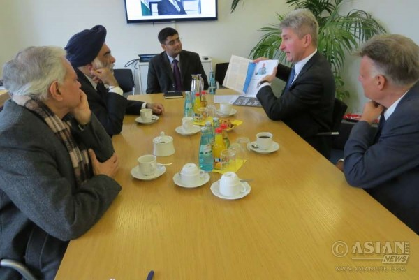 Mr. Gurjit Singh, Ambassador of India to Germany  and officials during the discussions