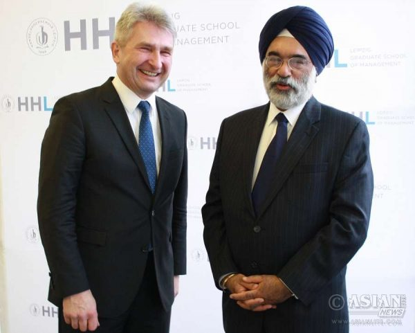 Mr. Gurjit Singh, Ambassador of India to Germany  with Dr. Georg Milbradt, former Minister-President (Chief-Minister) of the State of Saxony