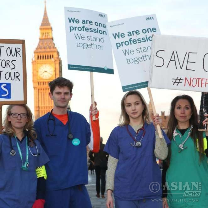 Junior doctors in protest in London @Twitter