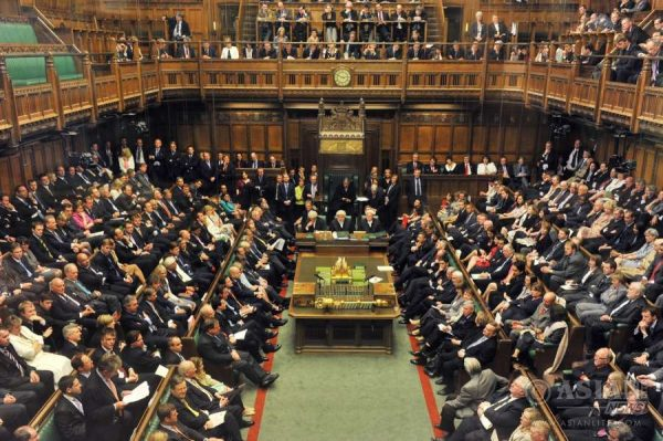 The crowded British parliament which needs extensive repair because of years of neglect