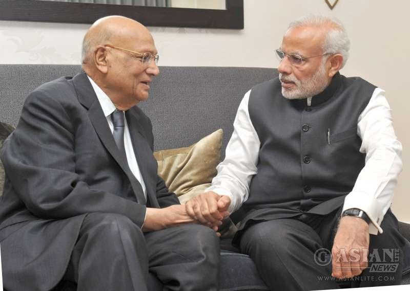Prime Minister Narendra Modi with Lord Swaraj Paul