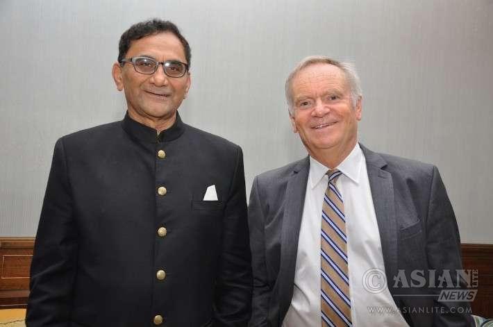 Bikram Vohra with Lord Jeffery Archer