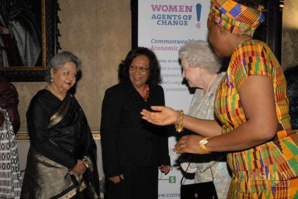 Baroness Shreela Flather meets the Queen during a Commonwealth Event (File)