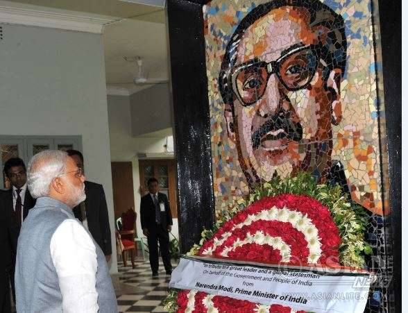 Indian Prime Minister Modi pays tributes to Father of the nation Sheikh Mujibur Rahman