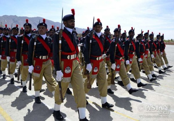 Pakistani policemen attend a passing out parade in southwest Pakistan's Quetta