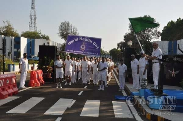 Indian Defence Personnels on a rally Marking World Health Day
