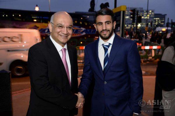 Keith Vaz MP congrtas Riyad Mahrez