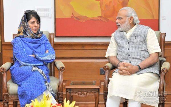 Mehbooba Mufti Meets PM Narendra Modi in Delhi