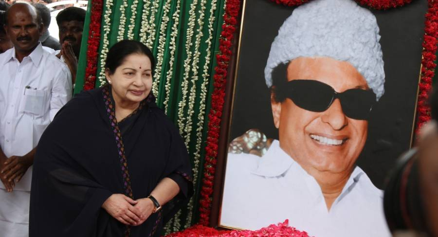 Tamil Nadu Chief Minister J Jayalalithaa pays tribute to M. G. Ramachandran in Chennai,