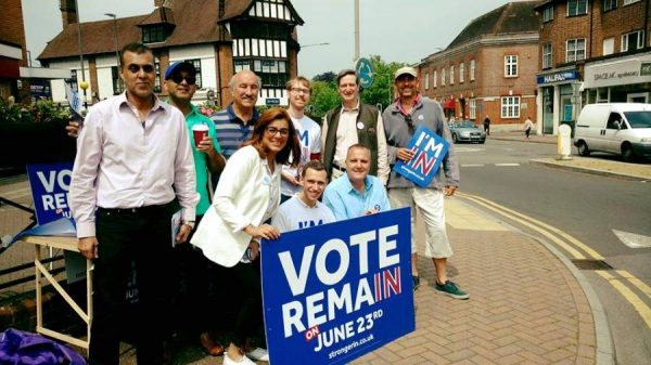 Sukhvinder Gill, Kanwal and friends on IN campaign with Dominic Grieve MP