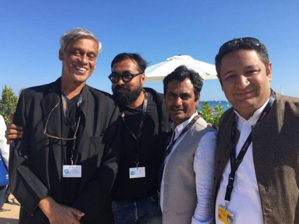 Sudhir Mishra, Anurag Kashyap, Nawazuddin Siddiqui With Uttar Pradesh Film Development Council member Mr Vishal Kapoor