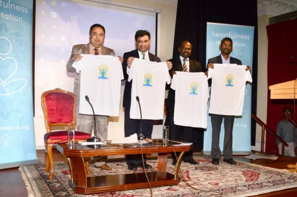 Deputy High Commissioner Dr Virander Paul,  Mr Sunil Kumar, First Secretary (Head of Chancery & Community Affairs,  Minister Coordination Mr AS Rajan  and 	Mr. Srinivas Gotru, Minister (Press, Information & Culture) at the event