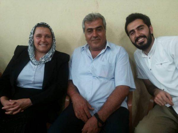 Kani Hammoush with his parents