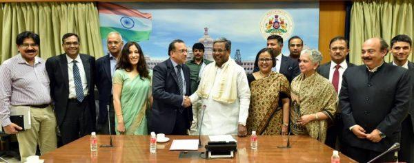 Indian Ambassadors and High Commissioners calls on the Karnataka Chief Minister Siddaramaiah in Bengaluru