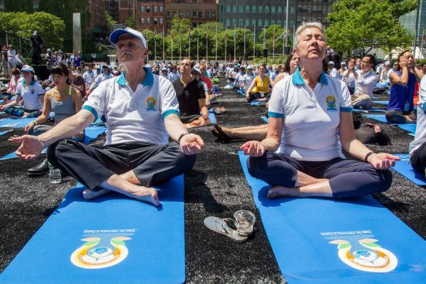 The UN marked the International Day of Yoga (21 June) with an outdoor Yoga session