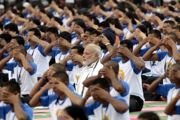 Prime Minister Modi at Second International Day of Yoga in Chandigarh