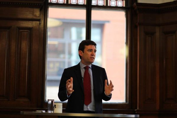 Andy Burnham MP, Shadow Home Secretary, speaking at the Greater Manchester Chamber of Commerce