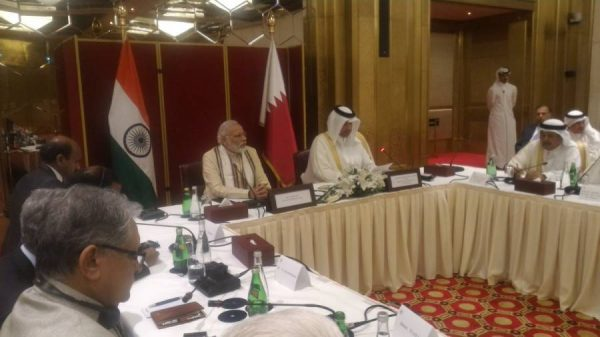 Modi meets businessmen in Doha