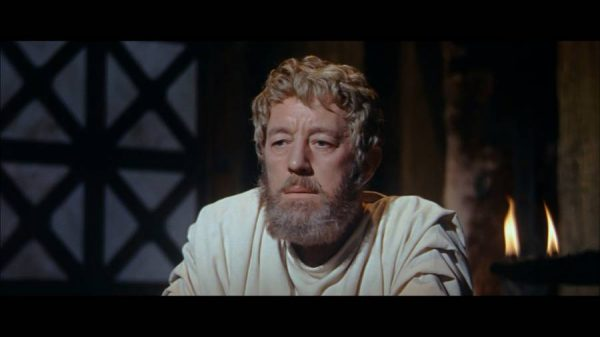 Emperor Marcus Aurelius, played by Alec Guinness, in The Fall of the Roman Empire  - 1964
