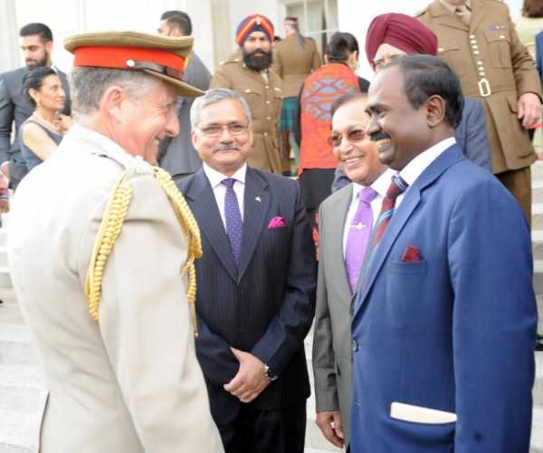 General Sir Nick Carter meets Mr A. S. Rajan, Minister Co-ordination, High Commission of India. Brigadier Rajesh Kumar Jha, Military Adviser, High Commison of India and Dr Rami Ranger CBE