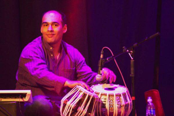 Hamit on the tabla