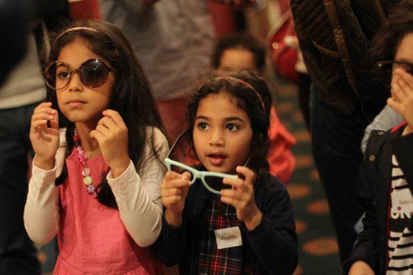 Children taking part in the event