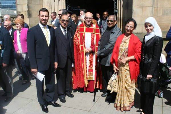 Indian Community representative Mr Ashit Sinha and Dr Saraswati Sinha with others at the event