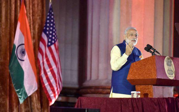 Modi addressing at the 40th AGM of USIBC, in Washington DC, USA  2