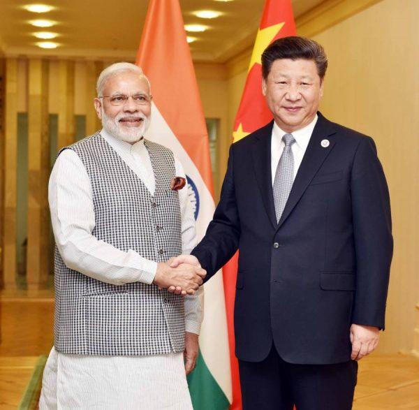 Modi in a bilateral meeting with the President of the People's Republic of China, Mr. Xi Jinping, in Tashkent, Uzbekistan 2