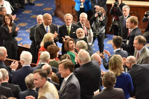 Modi meeting the US Congress members, before his address to the Joint Session, at Capitol Hill, in Washington DC, USA