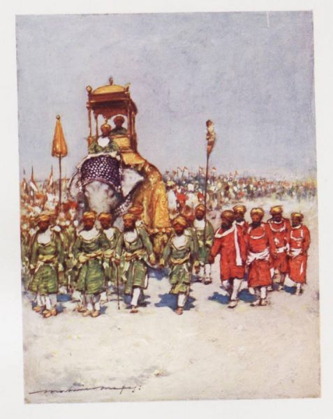 'One of the Most Picturesque Groups in the Retainers' Procession', from Mortimer Menpes, The Durbar, (London, 1903).