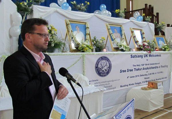 Satang UK celebrated the 128th birth anniversary of Sree Sree Thakur Anukul Chandra at Reading