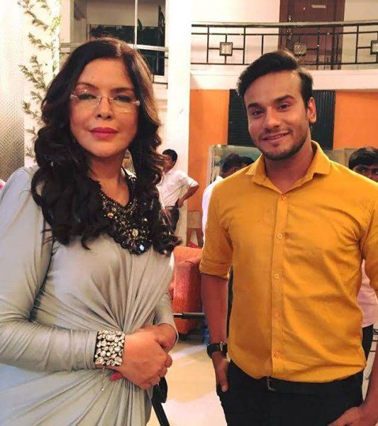 Zeenat Aman with RJ Khan
