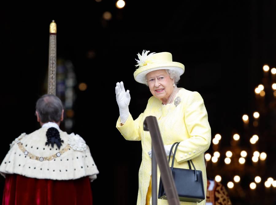 Queen Elizabeth II arriving at St Paul's