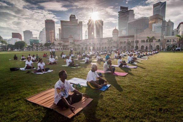 Yoga Day in Kuala Lumpur