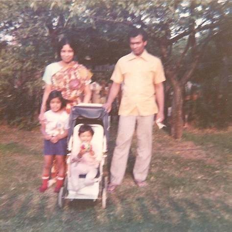 Rupa Huq's father, Muhammad Huq,and mother, Roshan Ara Huq, emigrated to Britain in the 1960s, to enable their children to have better opportunities and a higher level of education than was available in Bangladesh.  A garden shot