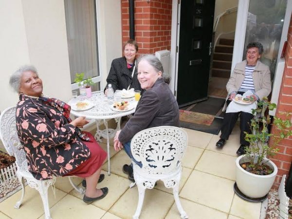 Stratford Court residents (from left to right) Mrs Yorke, Miss Nightingale, Miss Byrne and Mrs Cooper