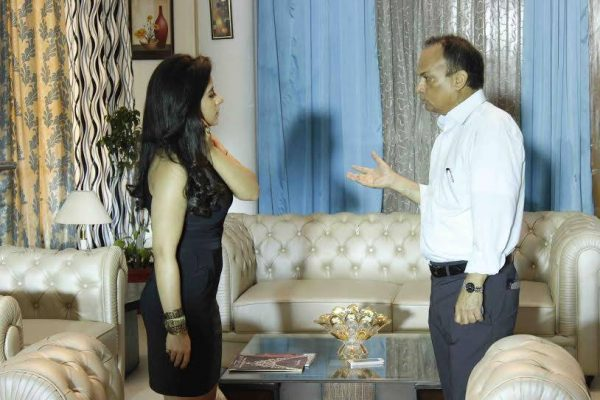 Savi Goel with Gurleen Chopra