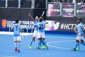 Glimpses from the hockey matches